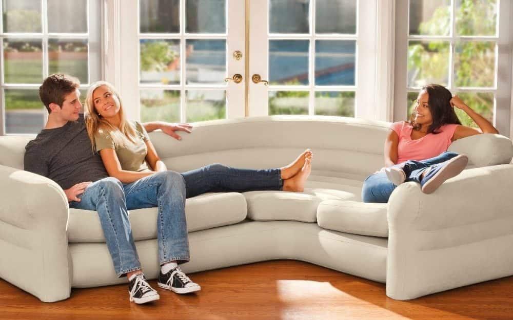 sofa hinchable rinconera