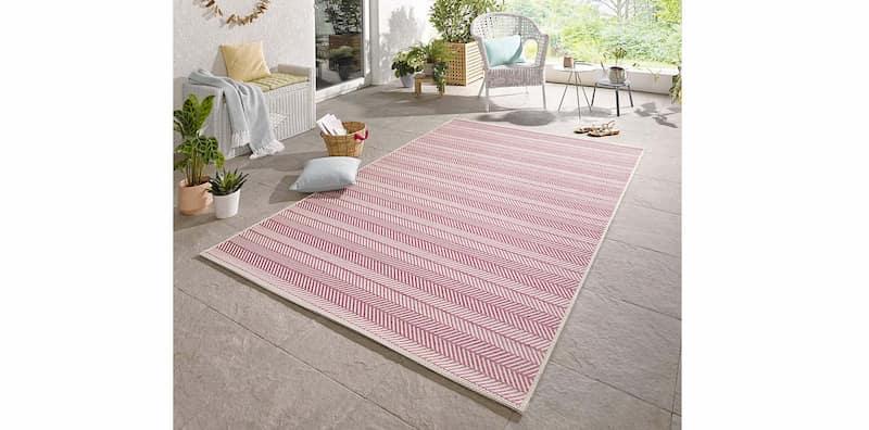 alfombra exterior rosa