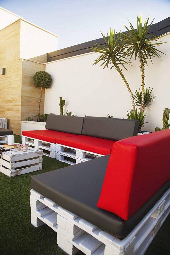 almohadones para sofas de palets de exterior