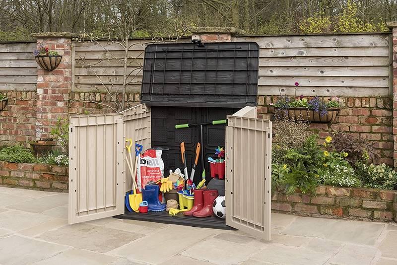 caseta pequeña para terraza y jardin