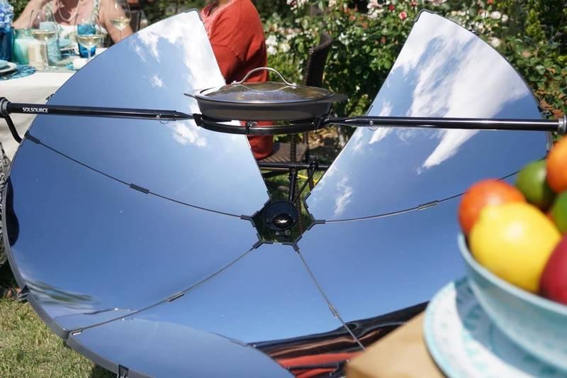 cocina parabolica solar para jardin