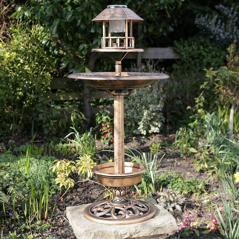 fuente de pie para jardin