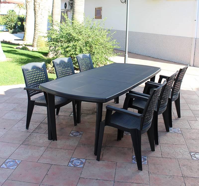 mesas de plastico para jardin y terraza