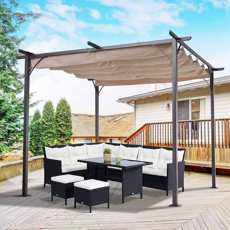 pergola para jardin y terraza con diseño moderno